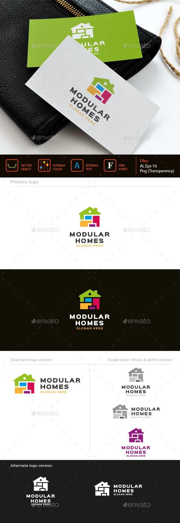 Modular homes Logo v.2 #transparent #png #housing #cleanliness • Available here → https://graphicriver.net/item/modular-homes-logo-v2/16058138?ref=pxcr