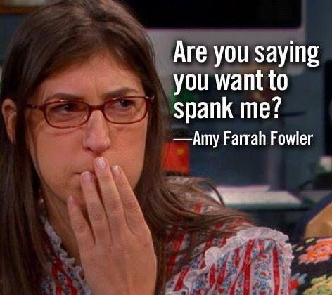 Image result for sheldon spanking amy