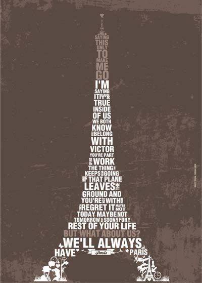 Casablanca Movie Quote Poster OH MAN this is the coolest thing ever!!! I'm in love!