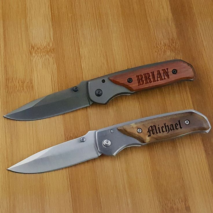 Please leave Names to be engraved and Font Choice (found in photo 4) in the notes to seller at checkout. By not providing the font in the notes it will slow down processing time!   Gift for Groomsmen, Pocket Knife, Engraved Folding Camping Knives, Groomsman Gift, Best Man Gift, Custom Knives, Personalized Knife.  Our laser engraved Mini Pocket Knife is an awesome gift for the groom, father of the bride, father of the groom, ushers, groomsmen, your grandpa, for fathers day, any special…
