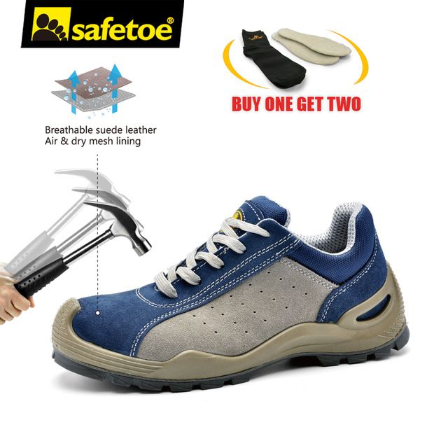 9f23e1f565f safetoe Safety Work Shoes Men Steel Toe Cap Air Vent Casual ...