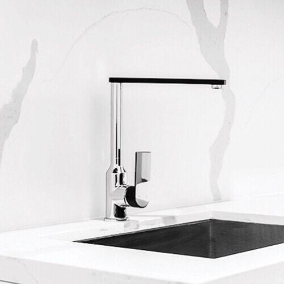 Our Magnus Sink Mixer // Matte Black + Chrome . . . . #inspiration #tapware #bathroom #fittings #fixtures #matteblack #chrome #kitchenmixer #tap #luxury #dream #dreambig #dreambathroom #living #live #home #simple #beautiful #minimal #clean #design #designertapware #customtapware #abiinteriors #bathrooms #interiors #goldcoast #australia