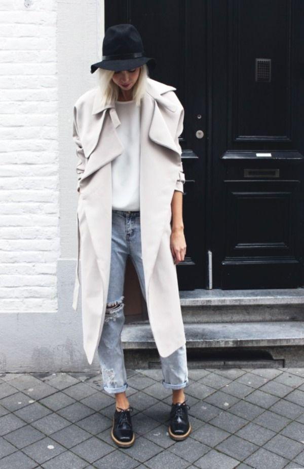 スプリングコート トレンチ ホワイト