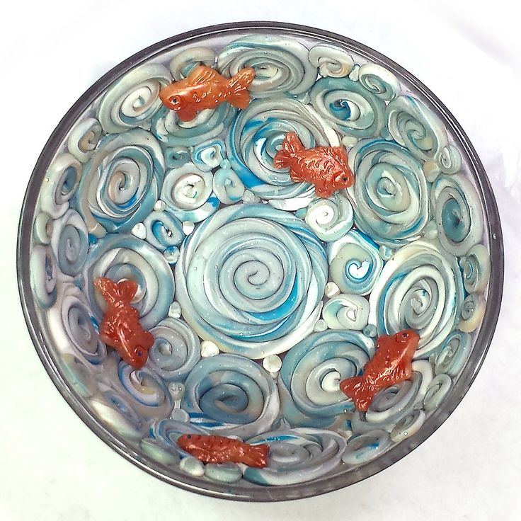 Tiny Coiled Bowl with Gold Fish List of Materials Used: •Small, oven safe bowl. The bowl used in this tutorial is a glass bowl from ...