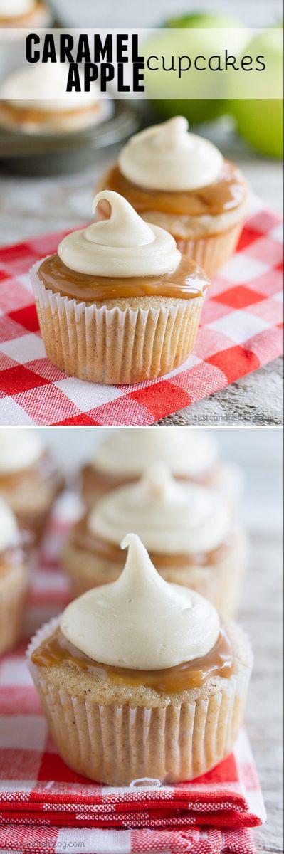 Karamell-Apfel-Cupcakes – schmecken und erzählen   – Caramel apple cupcakes