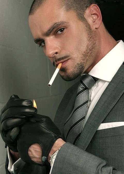 French Gay Porn Hunk Issac Jones  Gloved Smokers  Pinterest-3286