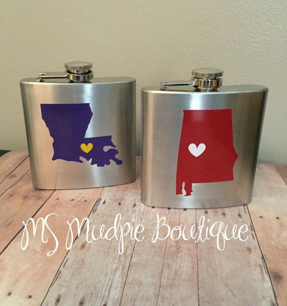 College Team Flasks SEC State Flask Sorority Gift
