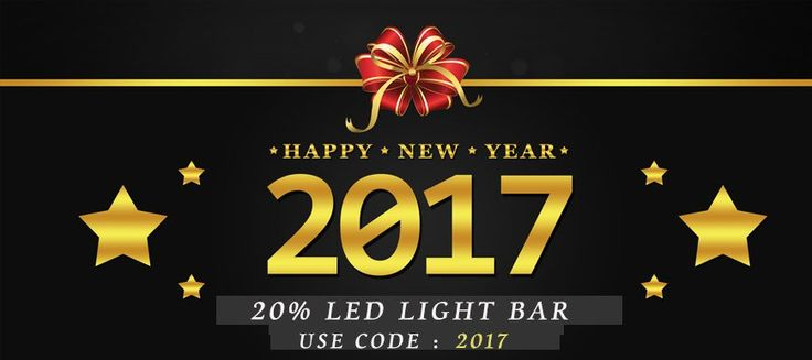 #YitaMotor #website 2017 new year promo. 20% off #LED #light #bars #coupon #code: 2017. Purchase link: http://www.yitamotor.com/led-light-bar.html