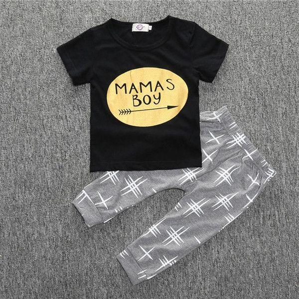 Summer Baby Boys Clothes Set Newborn Baby Clothing Set Short Sleeves T-Shirt/Pants