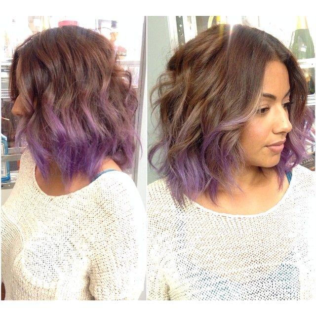 Lavender haze!!! did an ash brown base w/ a lavender ombre!