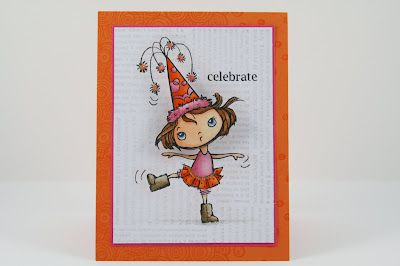 My Noteworthy Cards: Melinda did a super job with our July Citrus Colors Challenge!: Stamps Cards, Colors Challenges, Stampendous Cards, Cards Inspiration, Noteworthi Cards, Stampend Cards, Citrus Colors, Photo, Cards Art