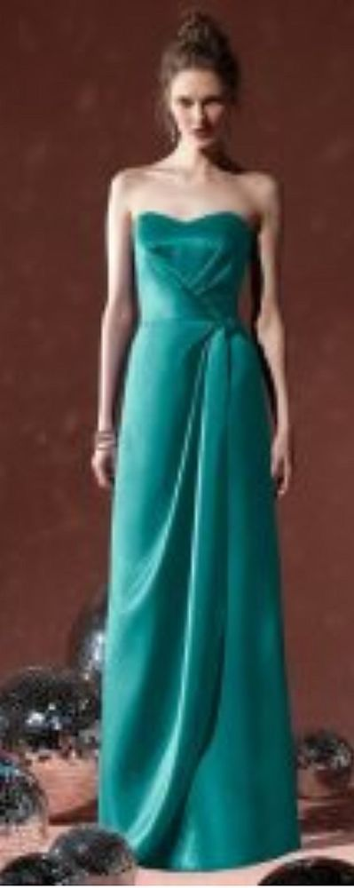 NWT Size 12 JADE satin long formal gown, DESSY 2820, matte satin bridesmaid dres