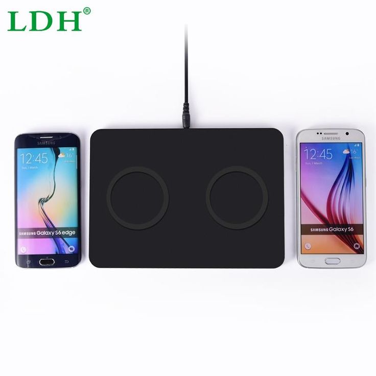 Dual Qi Wireless Charger Pad Transmitter Ultra Thin Charging Station for Samsung S5 S6 Edge iPhone 6 6S Plus HTC LG