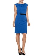 Events Tab Waist Dress #davidjones #bluesandgreens #newarrivals #autumnwinter2013