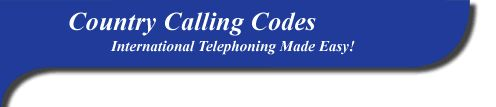 International calling codes, tells you what to dial to reach a specific country based on where you're calling from :)