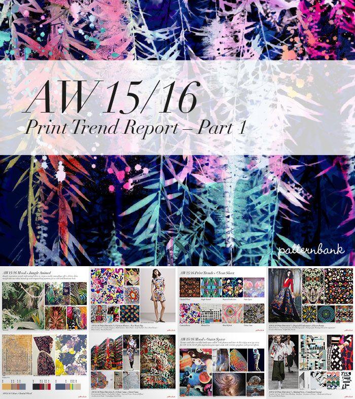 Autumn/Winter 2015/16 Print Trend Report Part 1 + Patternbank Textile Design Studio Version trend forecasts