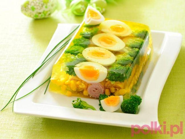 Jajka wielkanocne w galarecie - przepis składniki i przygotowanie -Przepis