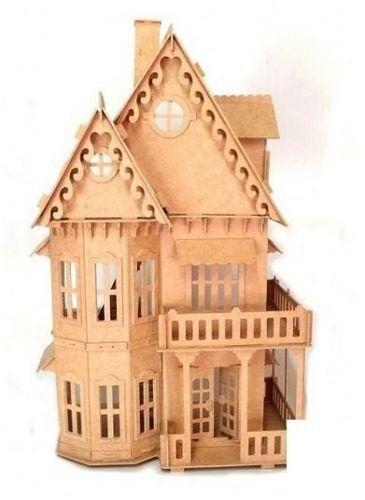 casa casinha de boneca mdf polly - melhor preço