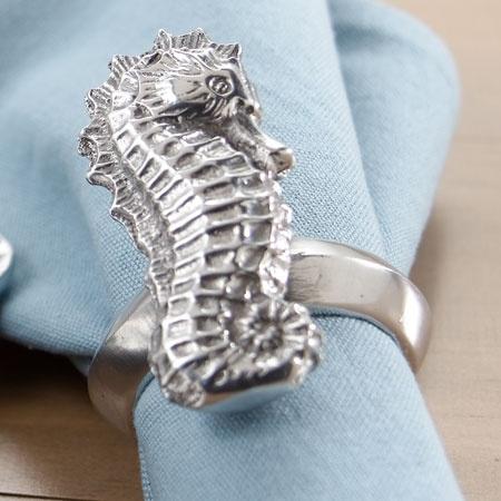 Napkin Rings - Seahorse S/4