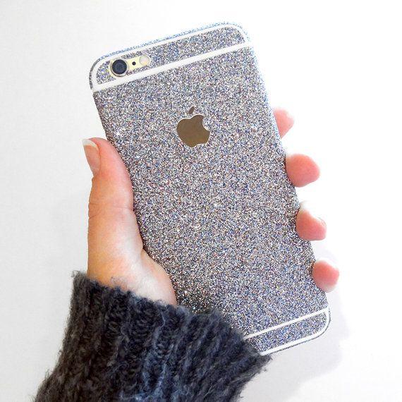 Glitter iPhone Skin Decal Wrap by SimplySierraStudio on Etsy