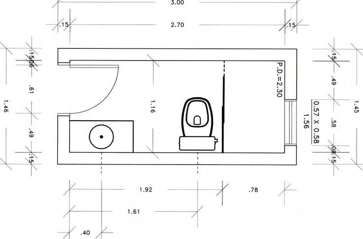 Baño Quimico Pequeno:Planta Baixa De Banheiro