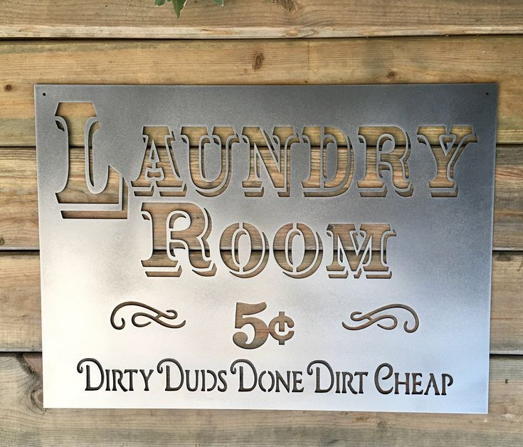 Laundry Room Metal Sign Bad Dog Metalworks Farmhouse Decor Etsy Metal Signs Decor Custom Metal Signs Vintage Metal Signs
