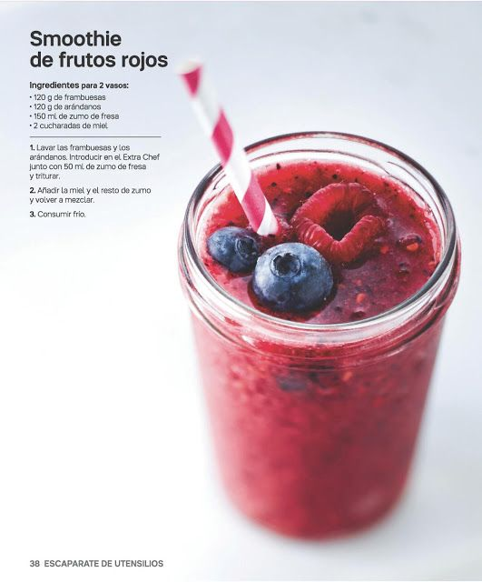 Tu Tupperware: Smoothie de frutos rojos
