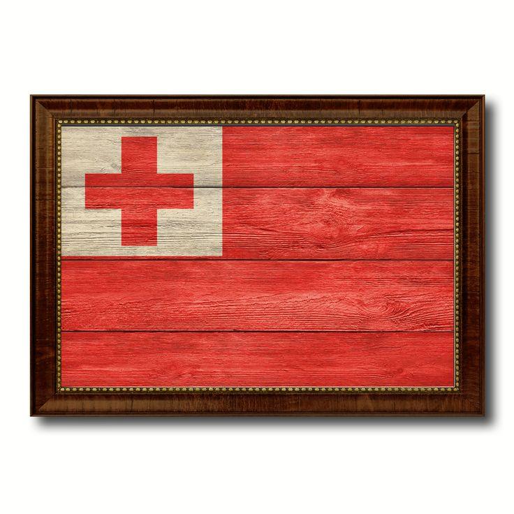 Tonga Country Flag Texture Canvas Print, Custom Frame Home Decor Gift Ideas Wall Decoration
