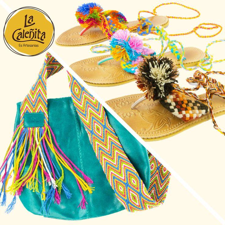 Las artesanías que se realizan en nuestro país son uno de los muchos símbolos que nos identifican como colombianos. Diversas piezas como pueden ser los bolsos y alpargatas, marcan una notable diferencia en el tipo de materiales de los que son elaborados, los colores y demás elementos que los caracterizan. 😍💖 #LaCaleñita #ArtesaniasLaCaleñita #ArtesaniasDeColombia