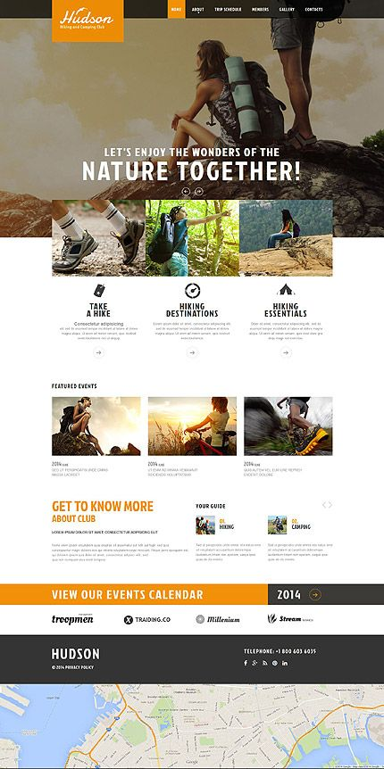 Template 52091 - Hiking Responsive Website Template