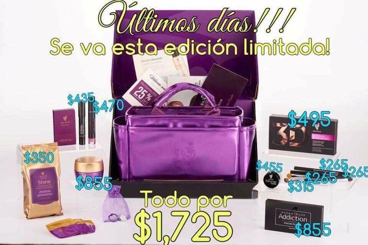 Adquiere tu kit de Younique antes de que se acabe en su presentación con una bella bolsa morada de regalo!!!