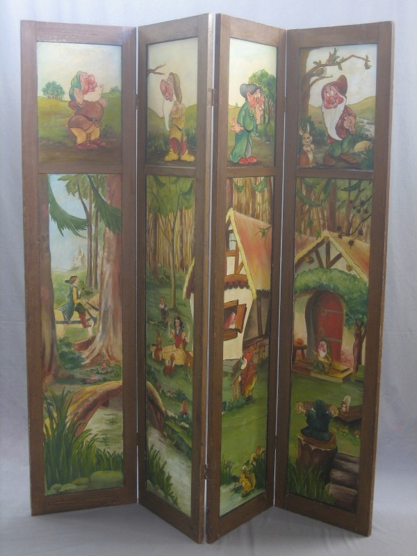 138 best antique screens images on pinterest folding for Painted screens room dividers