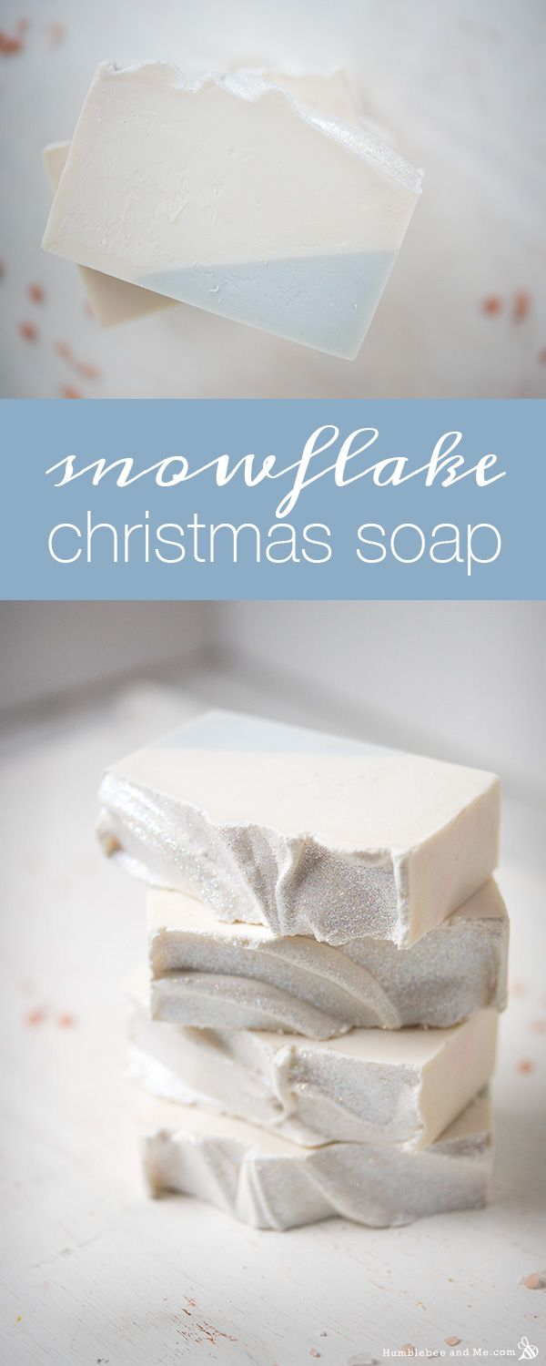 Snowflake Christmas Soap
