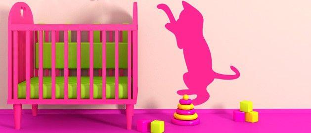 Koťátko B (1330) / Samolepky na zeď, stěnu a nábytek