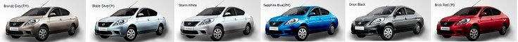#Nissan #Sunny Colors include Bronze grey, Blade silver, storm white, sapphire blue, onyx black and brick red.
