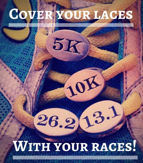 runner race charms - cover your laces with your races!