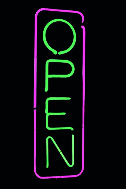 #Open neon signs