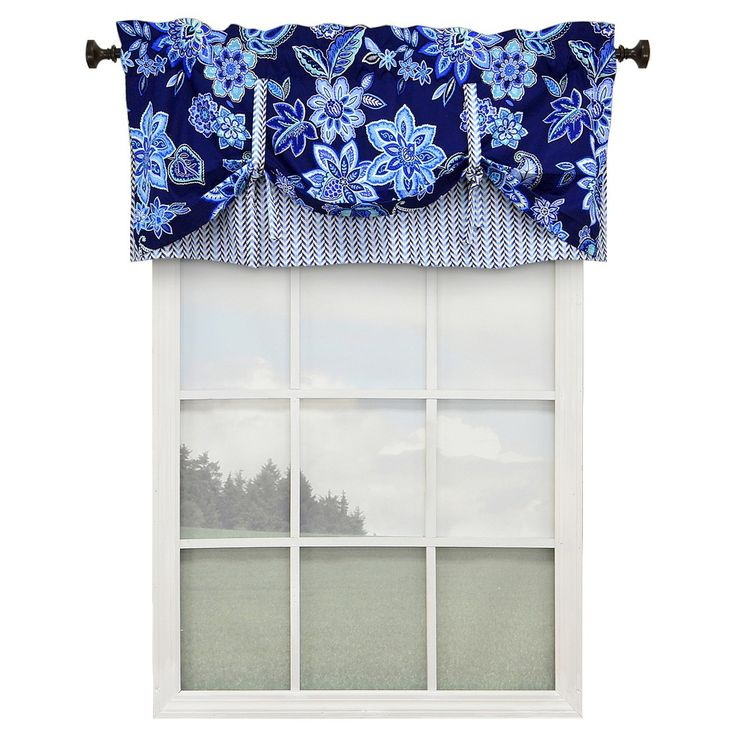 Curtains Ideas best light blocking curtains : Waverly charismatic lined window valance - delft (52''x19'')
