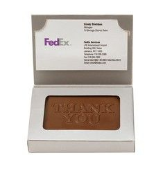 1 oz Stock Happy Holiday Chocolate Business Card Box
