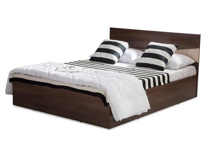Gill Manual Storage Queen Bed from Durian comes with ample storage provided in the central cavity with four compartments and hard board sheets on the bottom.