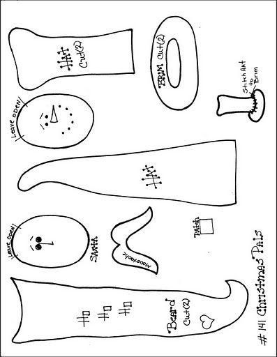Santa & snowman pattern. Page 2