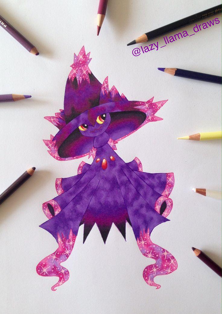 Drawing galaxy  Pokémon Mismagius