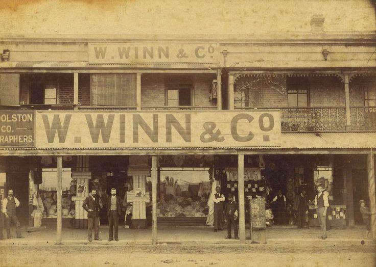 W. Winn & Co. premises in Hunter Street, Newcastle, Australia, around 1896
