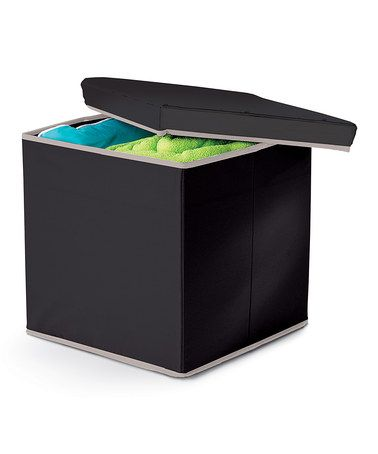 Look at this #zulilyfind! Black Collapsible Storage Ottoman by homz #zulilyfinds