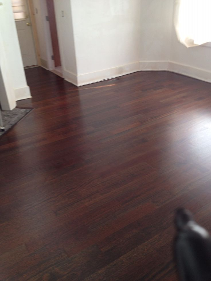 Brazilian Cherry Stained Ebony IPE Floor - After