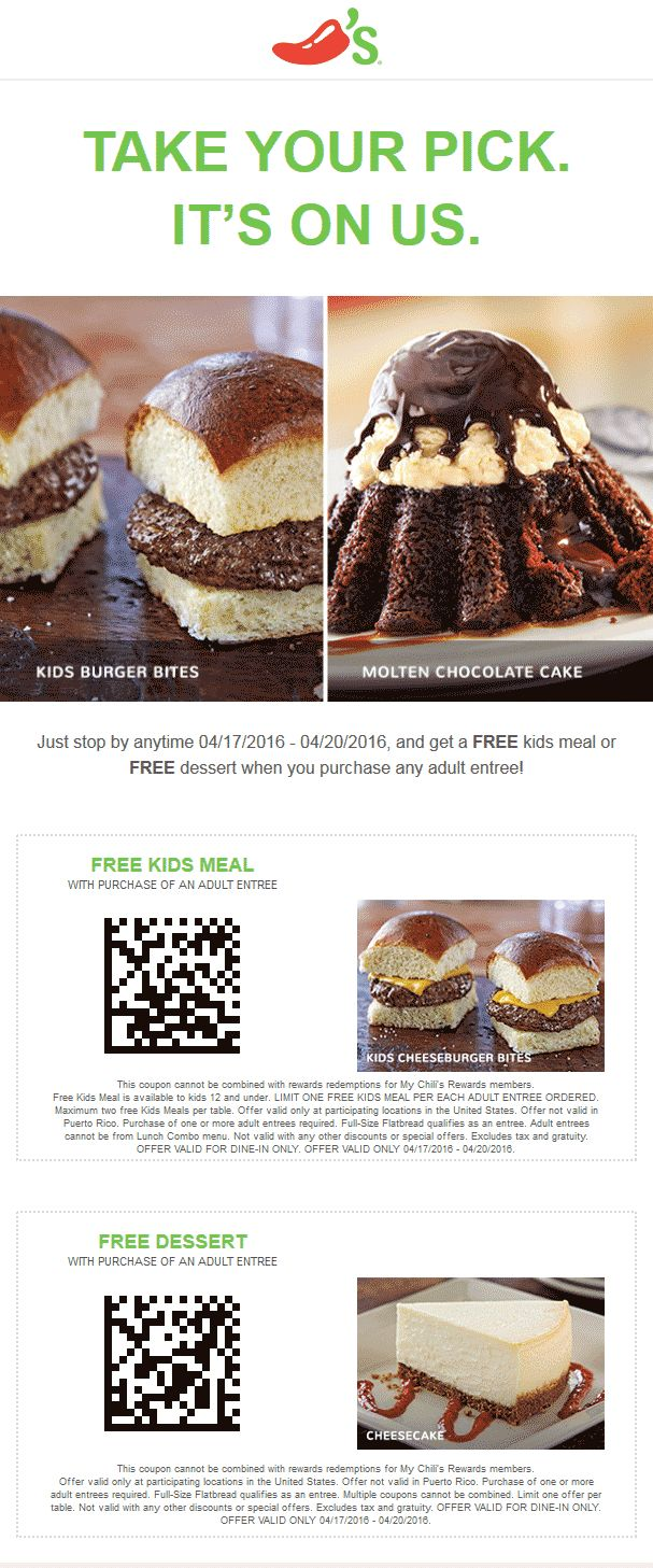 best 25 chilis coupons ideas on pinterest wendys coupons chilis coupon chilis promo code from the coupons app kids meal or dessert free with your entree at chilis june