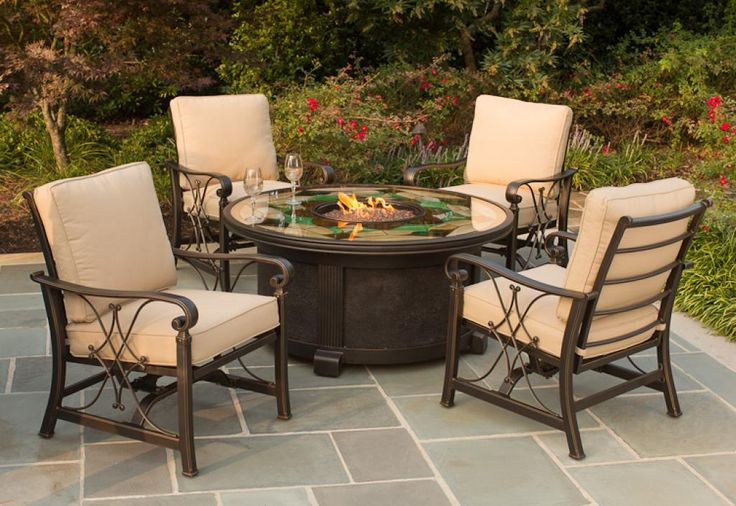 classic-agio-patio-furniture-with-round-glass-table