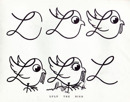 Turning letters into animals/ como convertir letras en animales