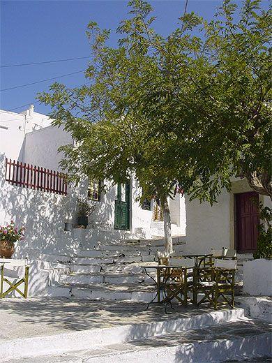 Dans le village de Chora, Amorgos