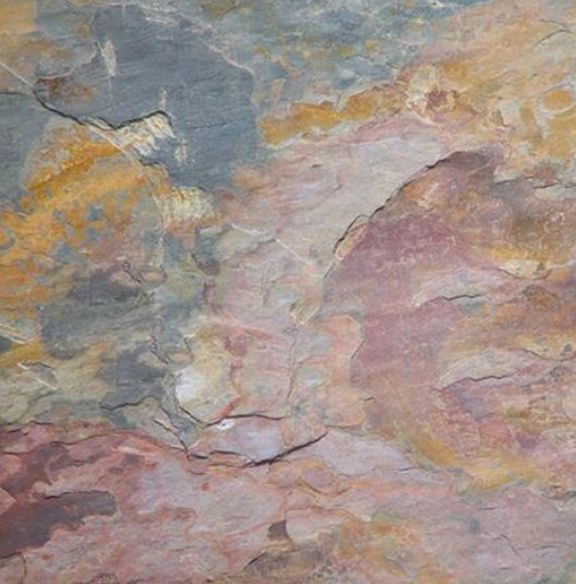 """Indian MultiColor Cleft Slate Tile 16""""x16"""". MarbleWharehouse.com"""